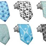 クールに決める!魚をモチーフにしたデザインネクタイ。