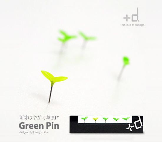 まるでグロッソ!新芽のような押しピン「GreenPin」が可愛い!