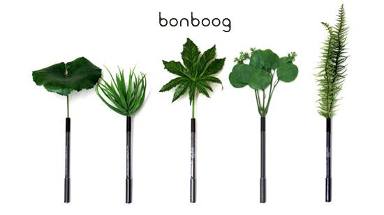 草好きにオススメ!本物の草を使ったようなナチュラルな風合いのペン。